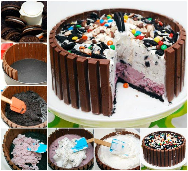 Pigs in mud kitkat cake video tutorial cream cake mud cake and cake what could be more fun than this pigs in mud cake get the how to diy ice cream ccuart Gallery