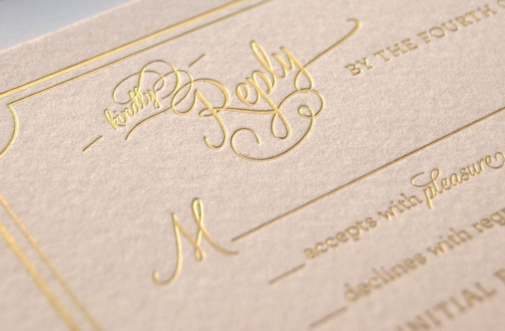 Gilded Wedding Invitations Etsy Weddings Stationery Soft Pink Gold