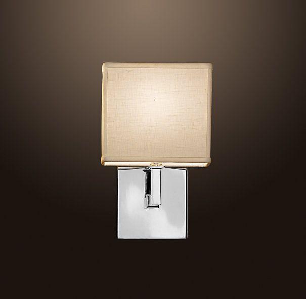 Nolan single sconce bright white textured linen 8 wx6 for Master bathroom sconces
