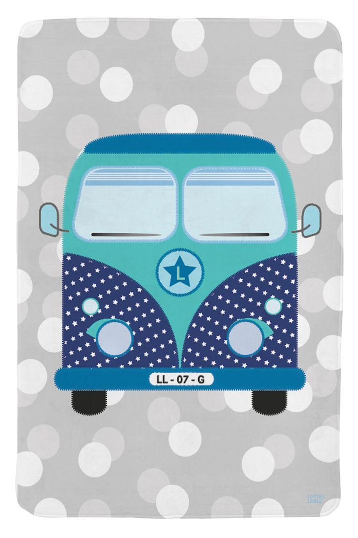 SoftieSpielteppich \'Bus Heinrich\' grau/blau/türkis