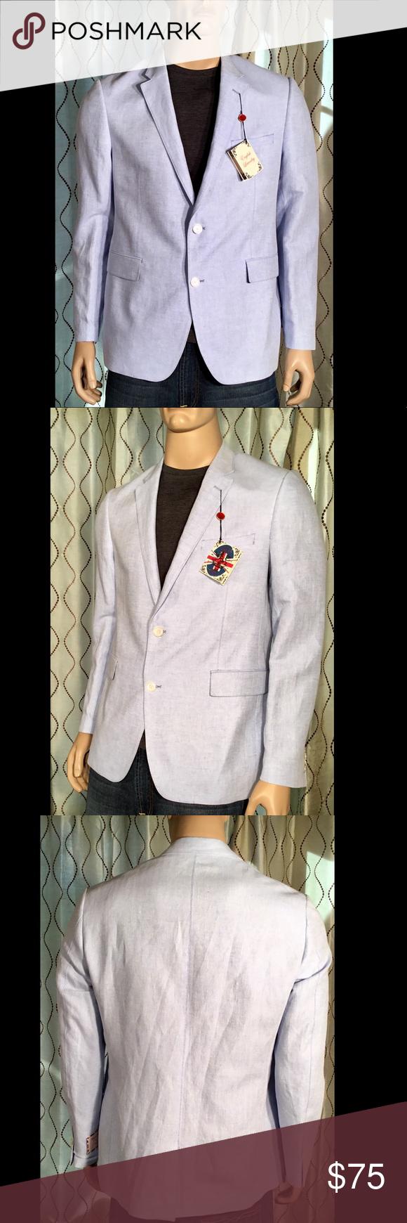 English Laundry Arrogant Blue Blazer Jacket Xl Blue Blazer Jacket Blue Blazer Mens Blazer Jacket [ 1740 x 580 Pixel ]