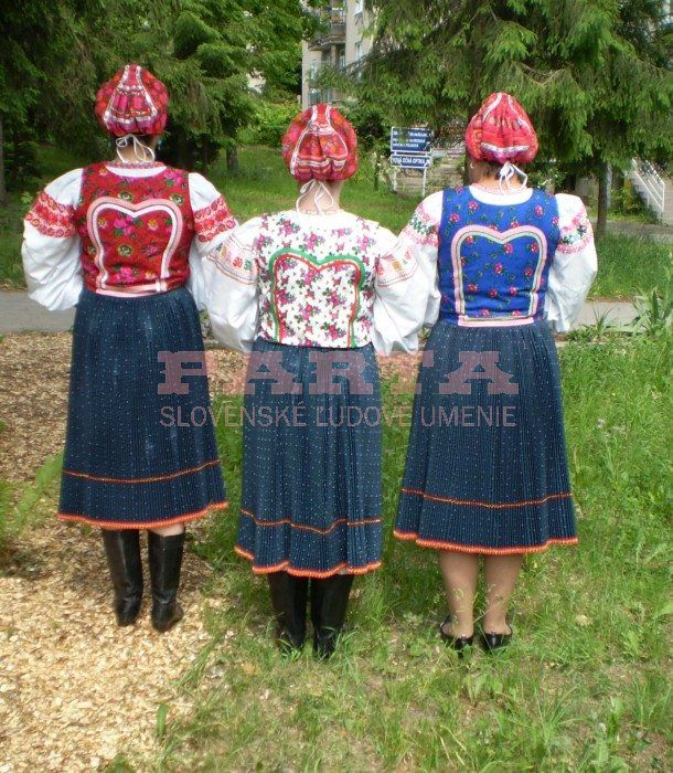 women wearing Slovak national folk costumes