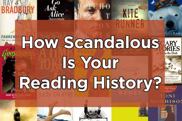How Scandalous Is Your Reading History Books To Read Books