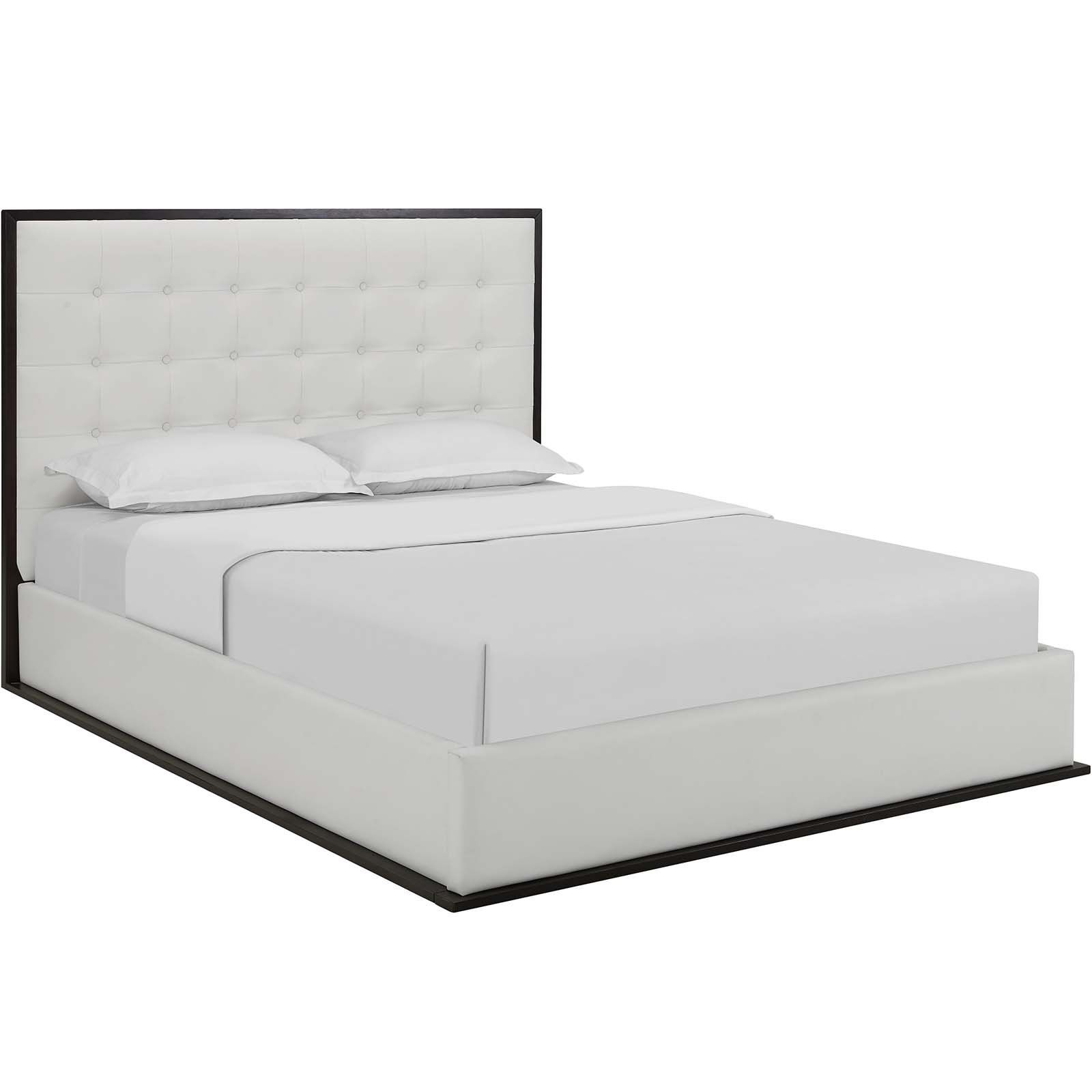 a6fe2c378965e7 Modway Beds on sale. MOD-5498-CAP-BRN Madeline Queen Faux Leather ...