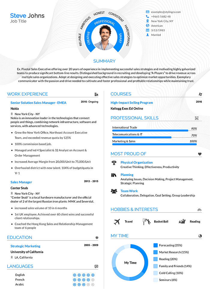 We all need a resume in our lifetime, whether we want to