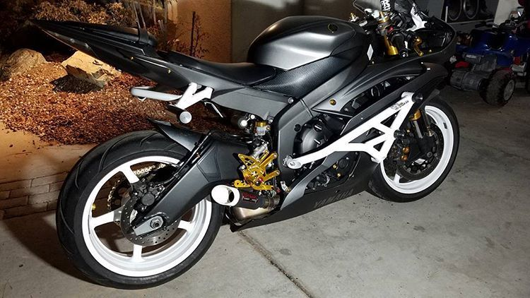 06-16 Yamaha R6R Crash Cage/Subcage White on White (WOW ...