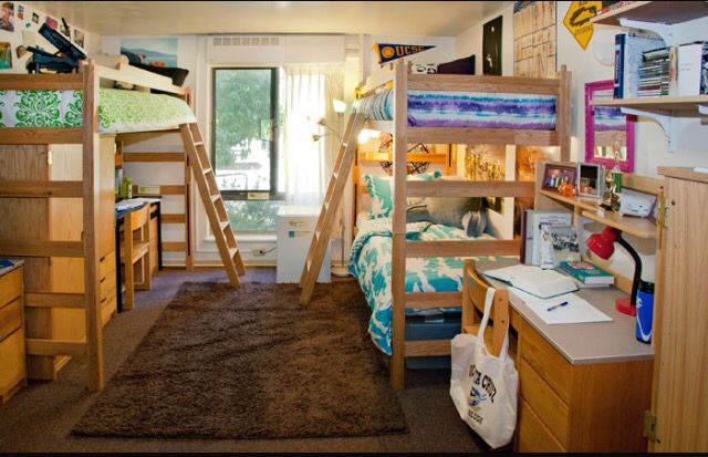 UCSC triple. Bae | College - dorm life, packing, & food in ... Uc Davis Dorm Room Layout