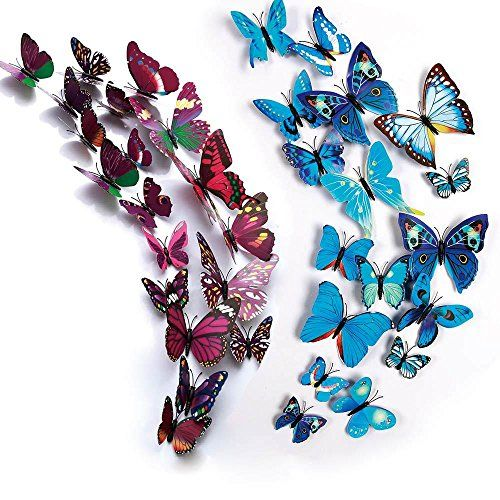 7 99 Moyag 24 Pcs 3d Butterfly Stickers Wall Stickersbutterfly