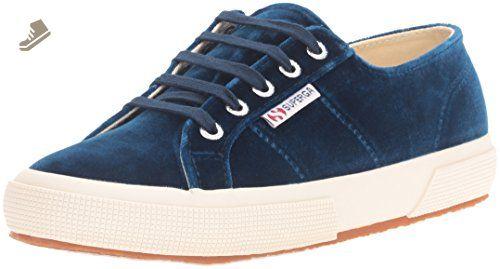 9fbff59ed0233 Superga Women's 2750 Velvtw Fashion Sneaker, Blue, 37 EU/6.5 M US ...