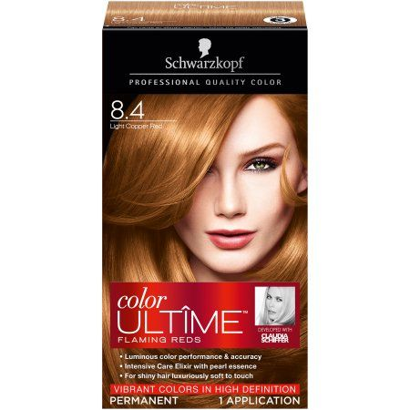 schwarzkopf color ultime hair color cream 8 4 light copper red