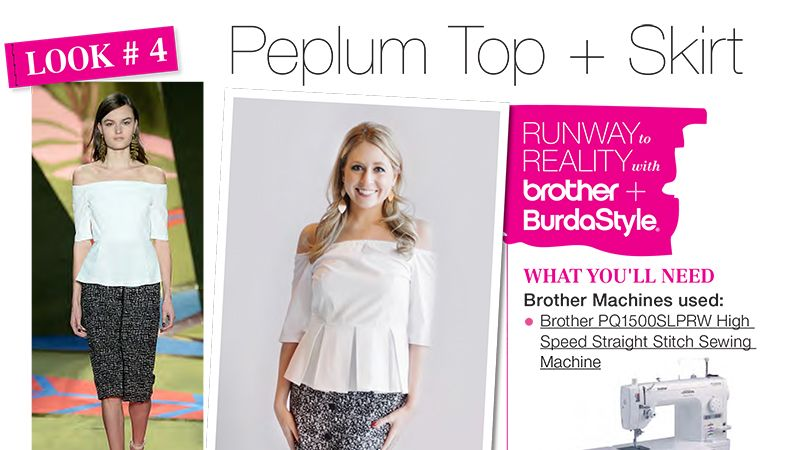 Runway to Reality Look 4 – Peplum Top and High-Waisted Skirt ...