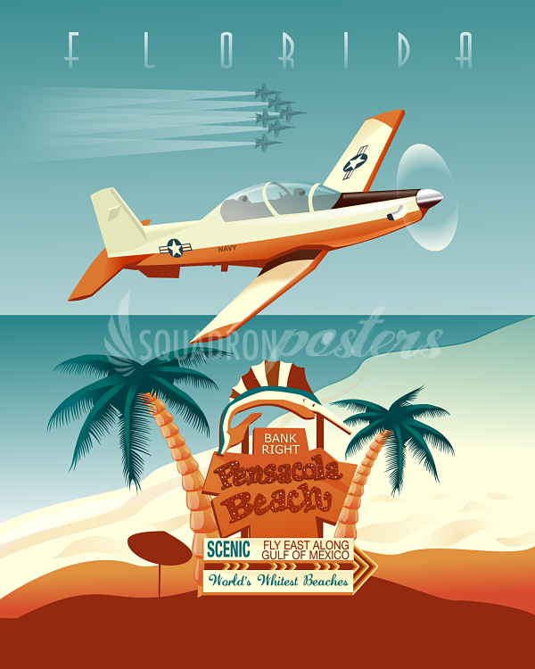 Nas Whiting Field T 6 Pensacola Fl Artworks Vintage