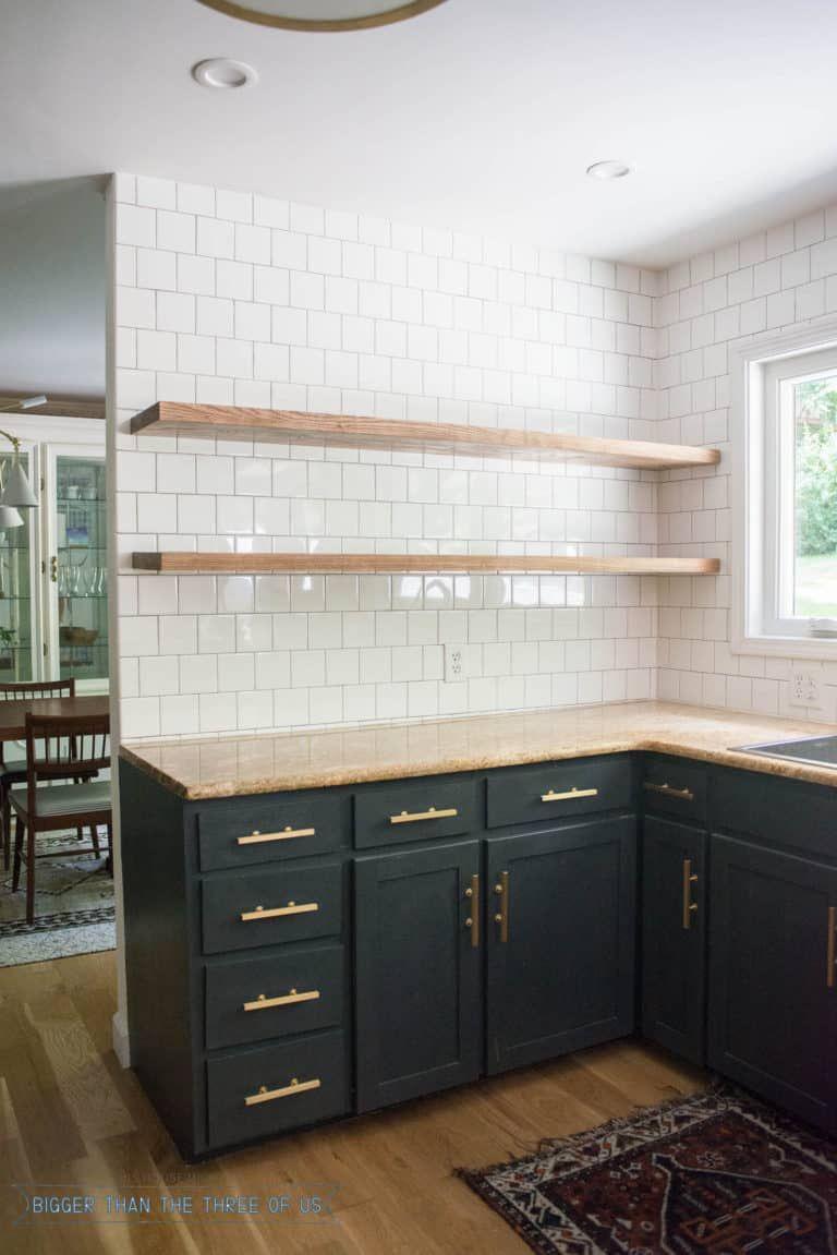 Height of Floating Kitchen Shelves #floatingshelves