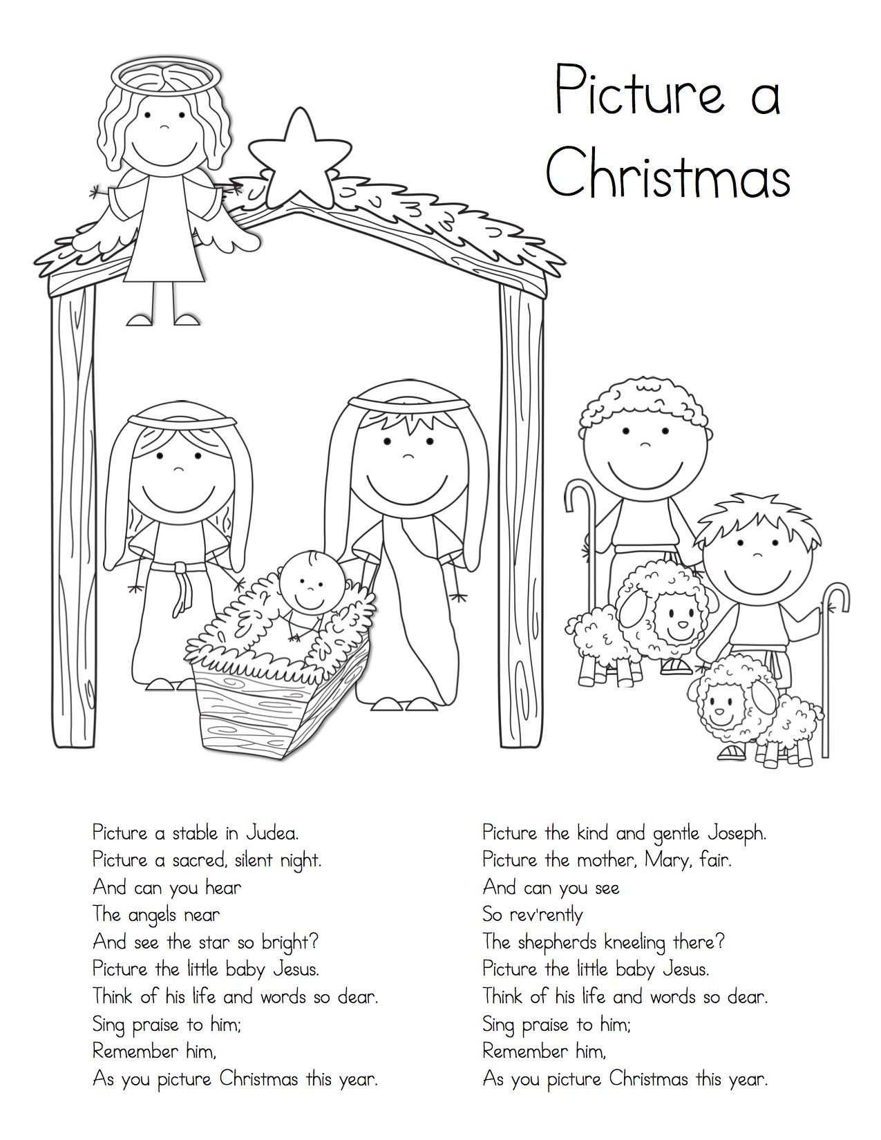 Picture A Christmas Handout