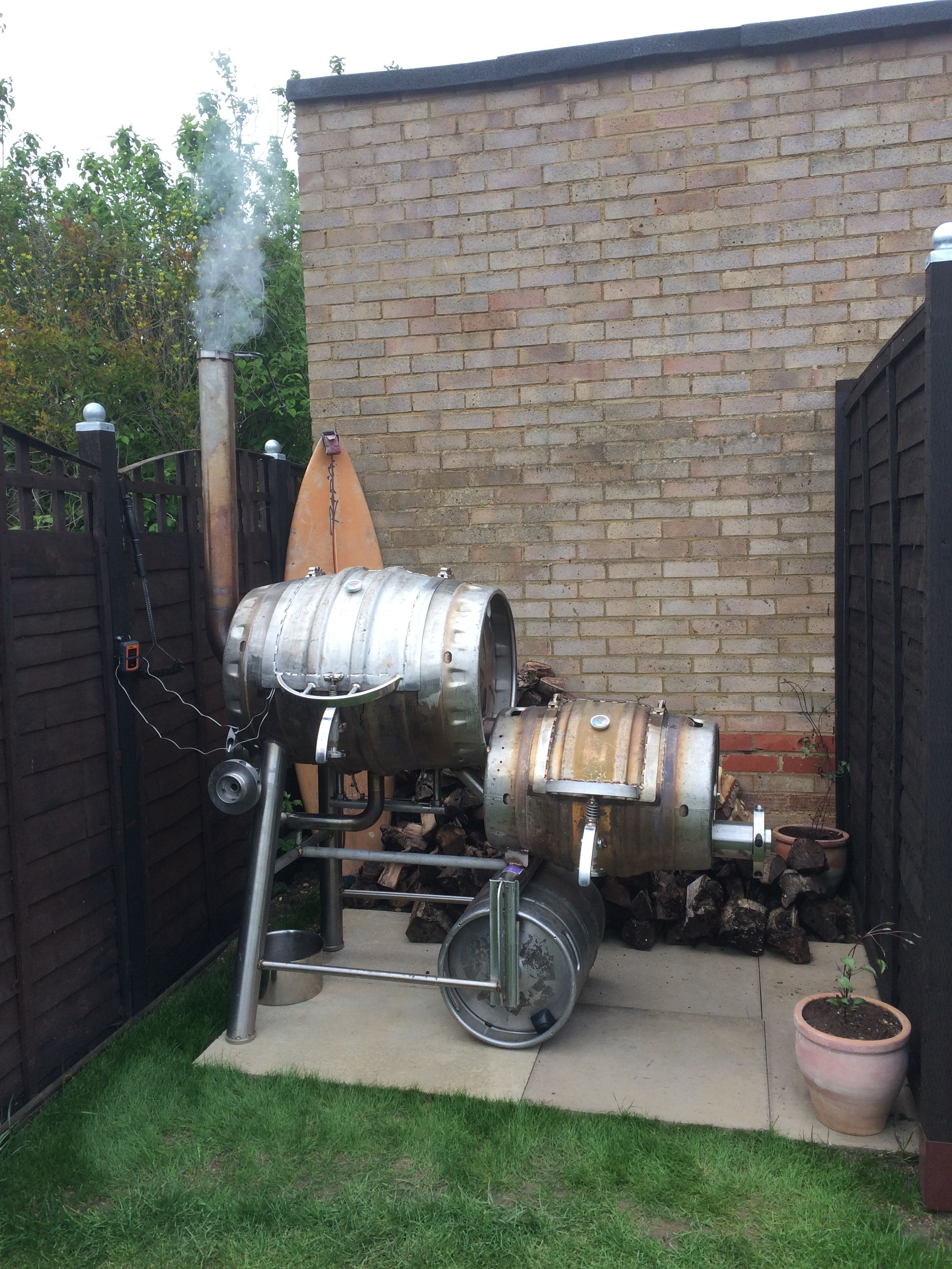 Pin von Doug Glazer auf wine barrel smoker | Pinterest