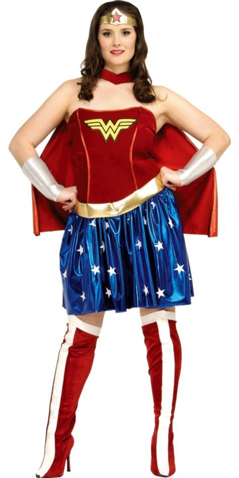 Deluxe Plus Size Wonder Woman Costume For Adults Party City