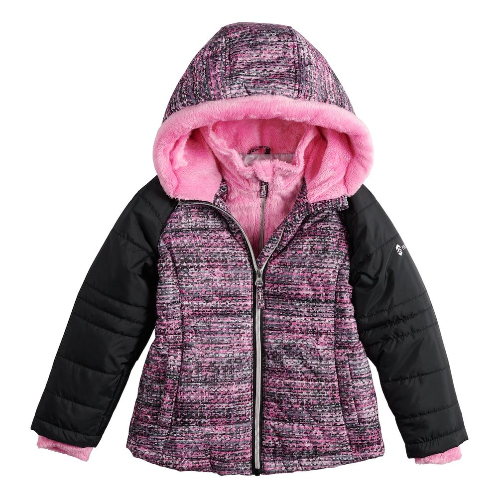 79c6ff02 Girls 4-16 Free Country Space-Dyed Heavyweight Puffer Jacket, Med Red