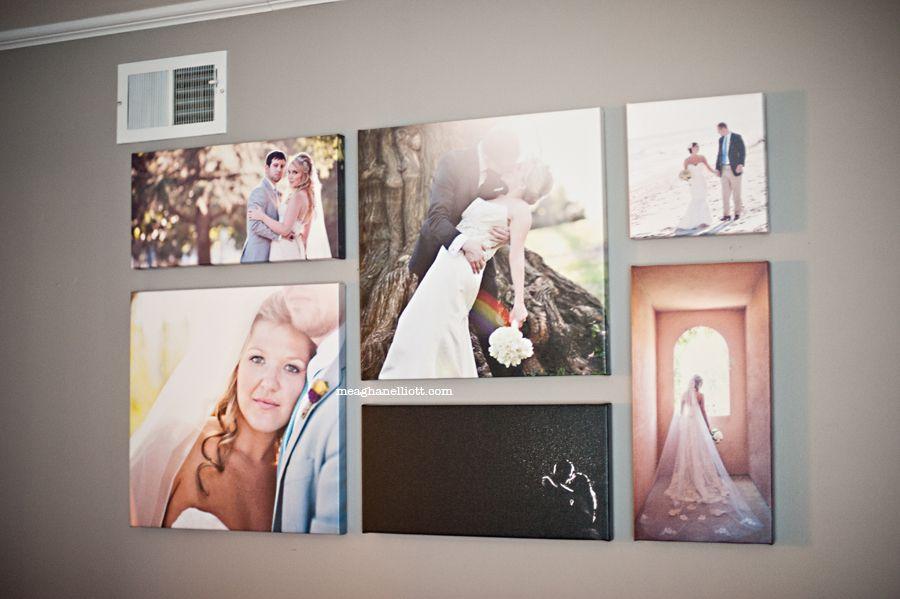 Perfect Wall Display I Love The Variety Of Sizes Wedding Photo Walls Photo Wall Display Wedding Photo Display
