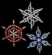Wire & Crystal Beaded Snowflake Ornaments Pattern