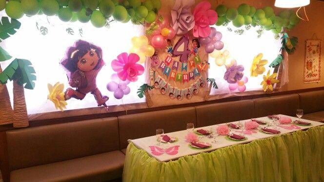 dora birthday partydecorationtable decoration doras birthday