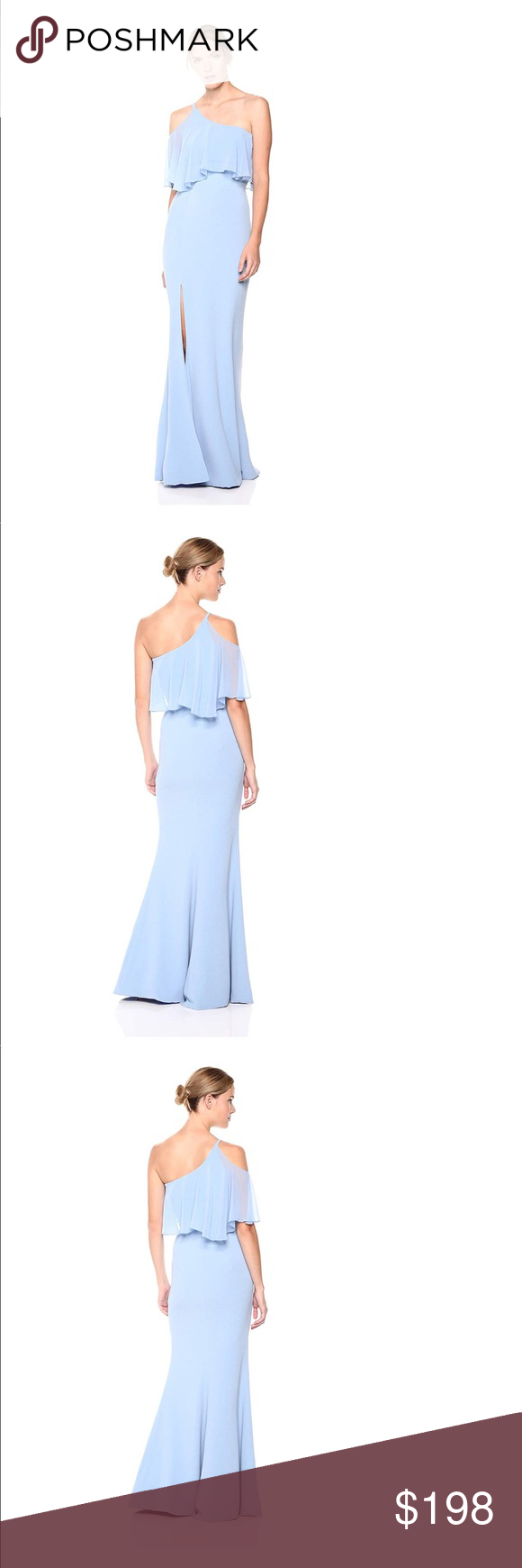 Dress The Population Ice Blue Gown Dress Blue Gown Dress Dress The Population Gowns Dresses [ 1740 x 580 Pixel ]