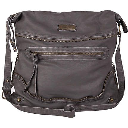 2b2db3b93c63 grey oversized messenger bag - cross body bags - bags   purses - women - River  Island