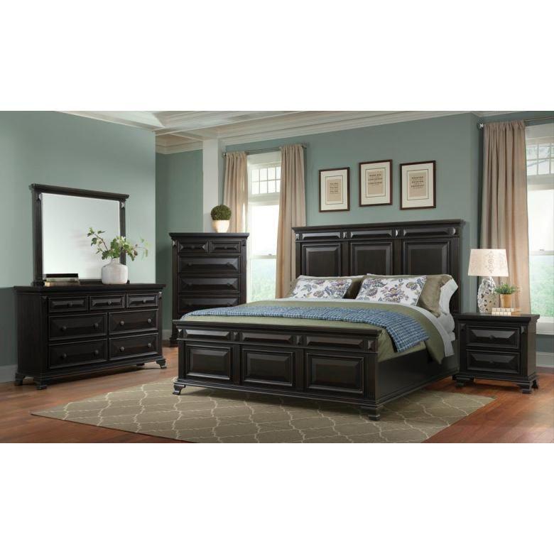 Elements Calloway King Bed In Antique Black In 2021 Modern Bedroom Set Black Bedroom Furniture Bedroom Sets Queen