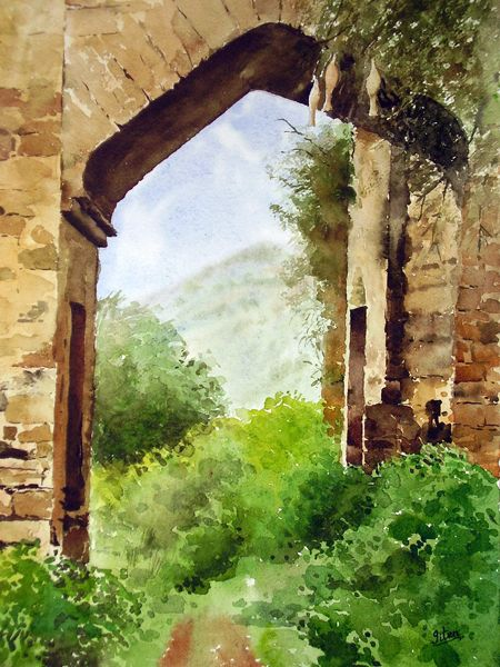 Indian Artist Jitendra Sule S Watercolour Paintings Old Fort