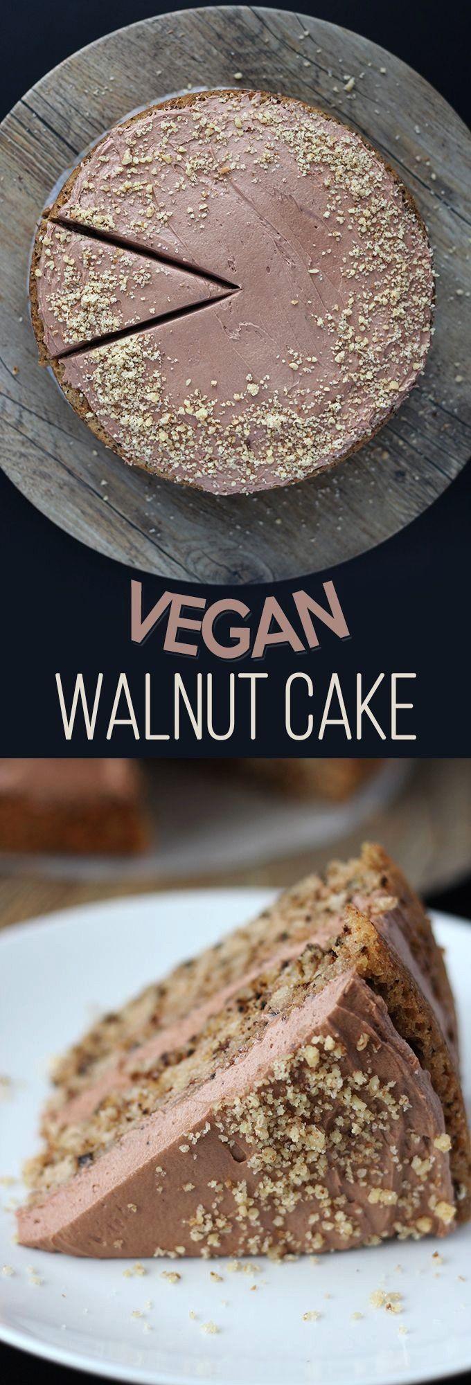 Walnut Cake - Sweet Like Cocoa -   -Vegan Walnut Cake - Sweet Like Cocoa -   -  No-Churn 2-Ingredie