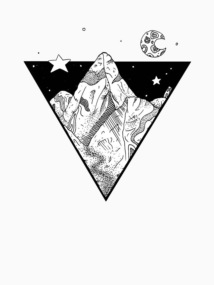"""Midnight Geometric Mountains"""" T-Shirts & Hoodies by bblane 