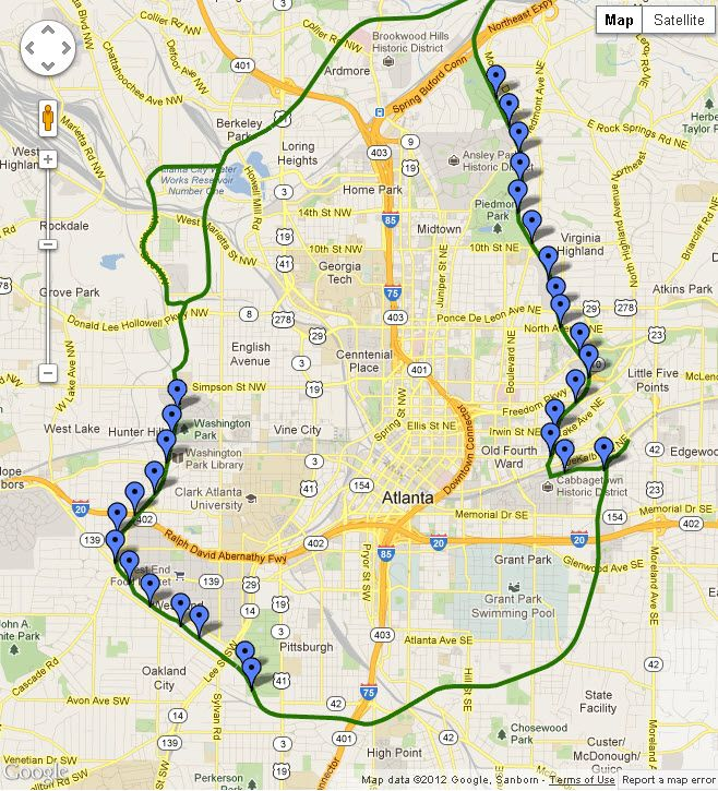Atlanta Beltline Map Google Search Real Estate Pinterest