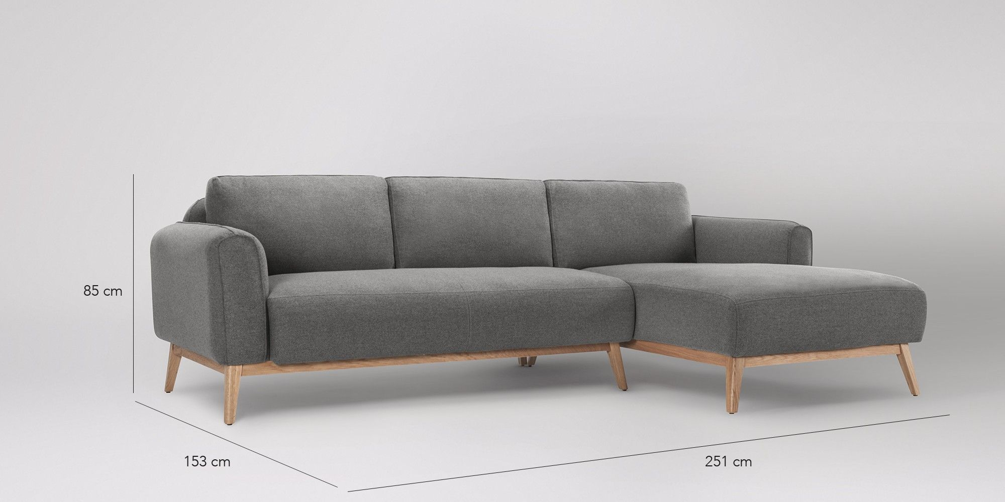 Frederick Right Hand Corner Sofa Swoon Editions