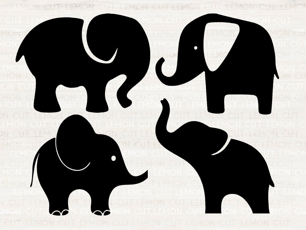 Download Elephants Svg, Elephant svg, eps, dxf, png cutfiles for ...