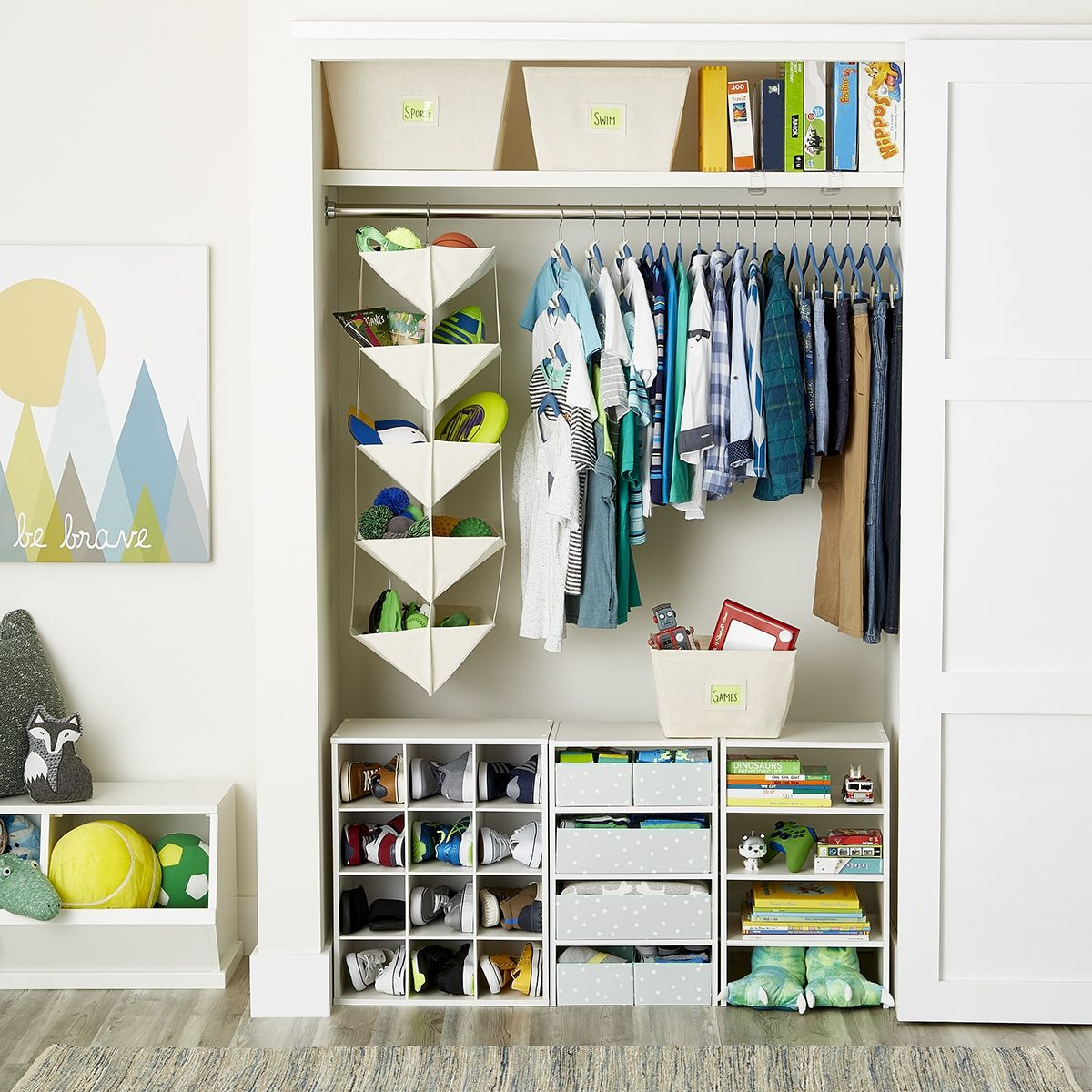 Create More Room To Grow With A Space That Opens Up To More Storage Possibilities Hanging Sol Closet Organization Cheap Small Closets Kids Closet Organization