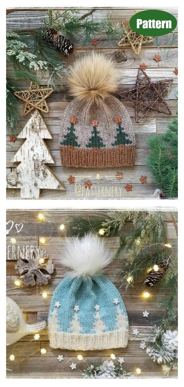 Photo of Tree Hat Free Knitting Pattern and Paid – Stricken ist so einfach wie 1, 2, 3 Da…