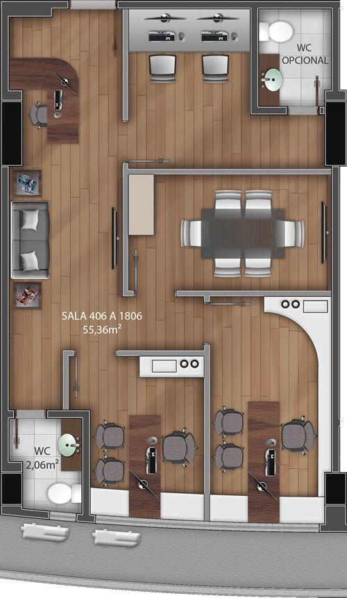 Pinterest claudiagabg oficina arquitectura for Planos de escritorios