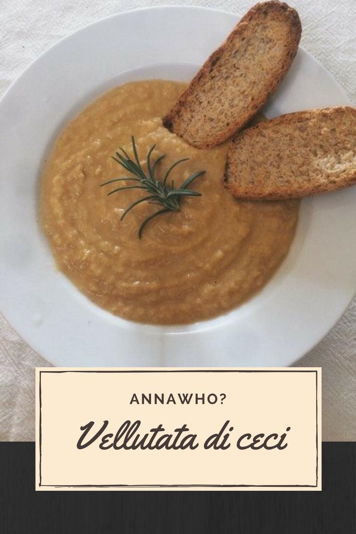Ricette Light, Vegetariane, Vegane, Senza Glutine e Senza Lattosio  Vellutata di Ceci ☼ AnnaWho?