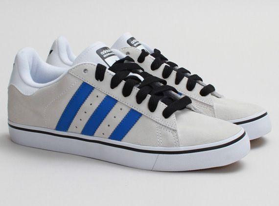 adidas skate campus vulc white blue 01 adidas Skate Campus Vulc Running White Bluebird