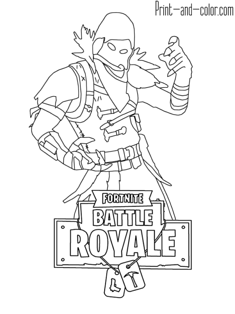 Fortnite Coloring Pages Raven