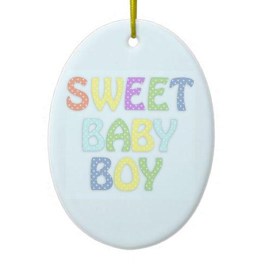 Baby Boy Christmas Tree Ornament  #Baby #Boy #Ornament