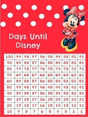 Genius image with printable countdown chart