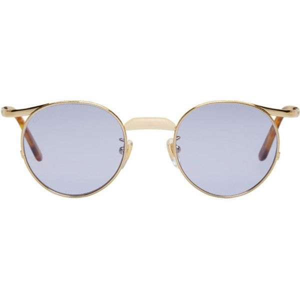 e8af25520f Gucci Gold Runway Glasses ( 500) ❤ liked on Polyvore featuring accessories
