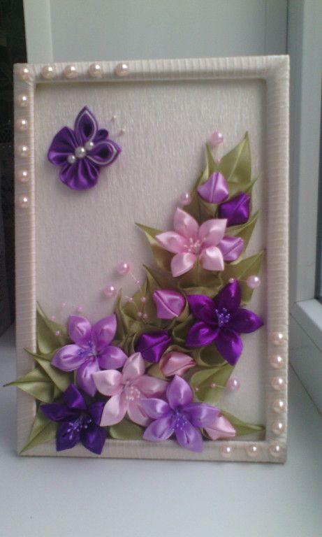 Цветы из атласных лент на открытки, надписью болтуны