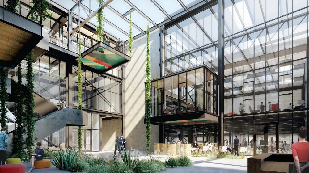 The Press Work Eyrc Architects Food Hall Costa Mesa California Construction