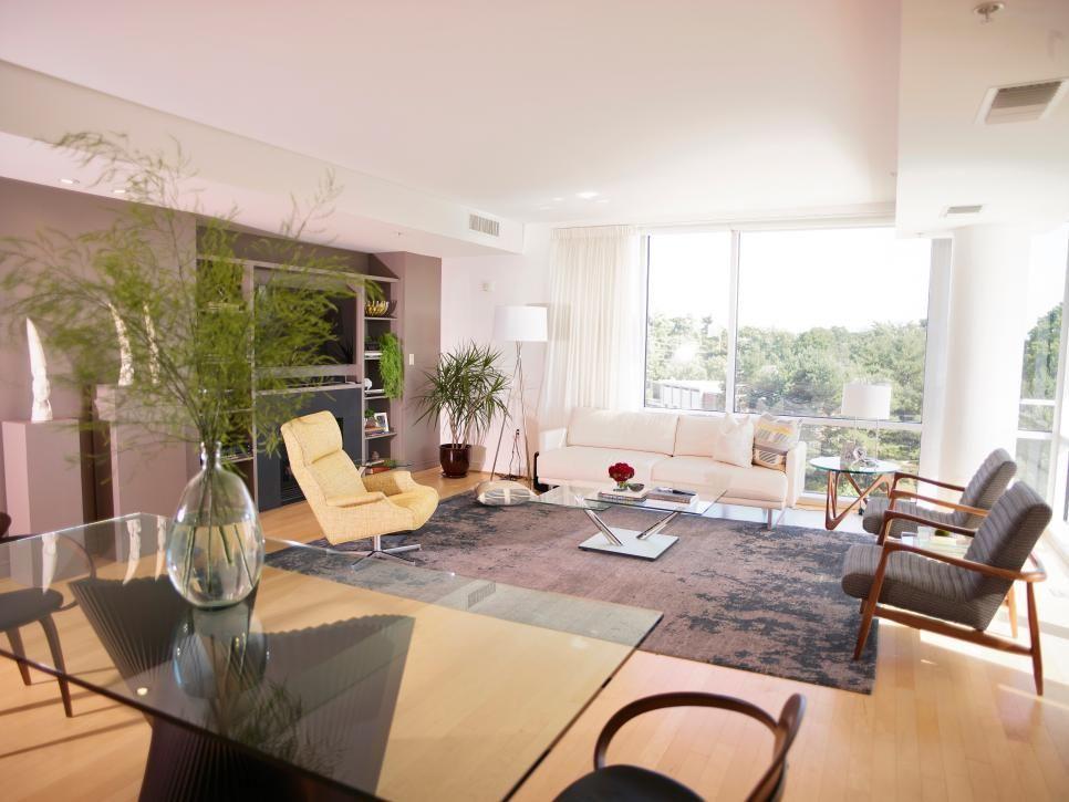 Midcentury-Modern Living Room | 2014 | HGTV