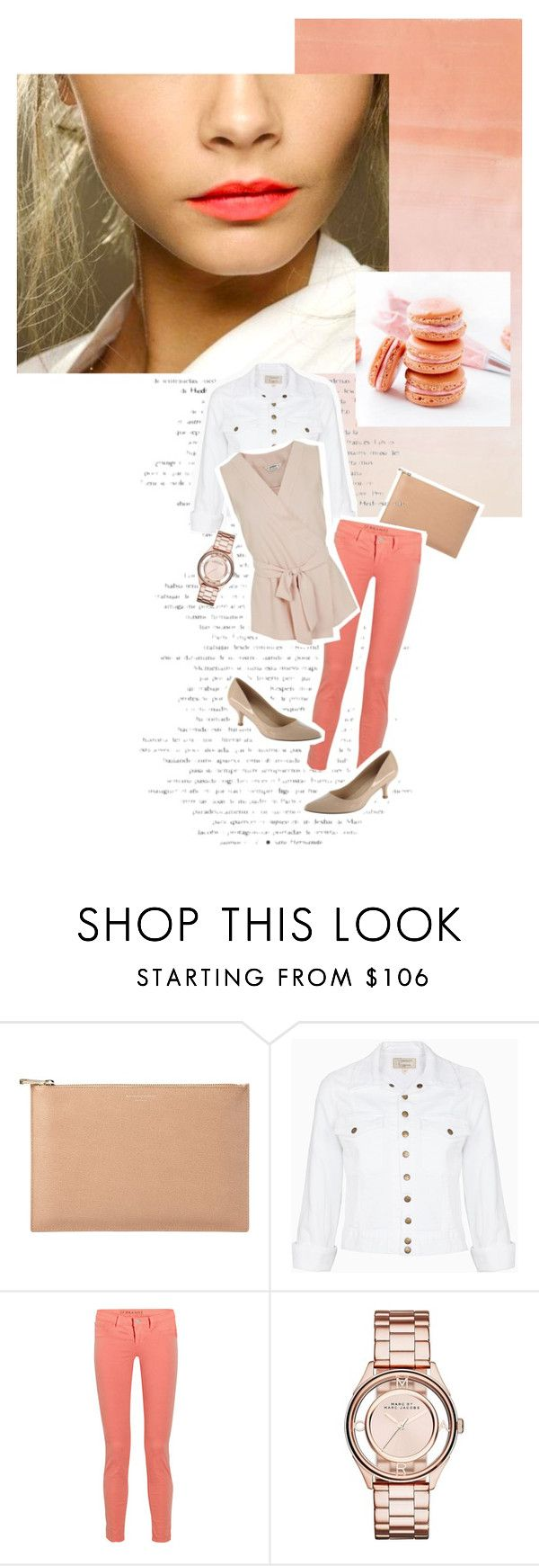 """Coral and nude"" by clampigirl ❤ liked on Polyvore featuring Aspinal of London, Current/Elliott, J Brand, ALDO, Marc by Marc Jacobs, Miss Selfridge, women's clothing, women, female and woman"