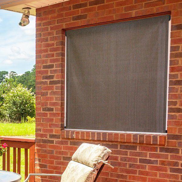 Hang Blinds Outside Window Frame: Solar Roller Shade, Window