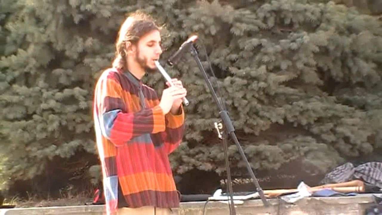 Muzyk uliczny w Sandomierzu