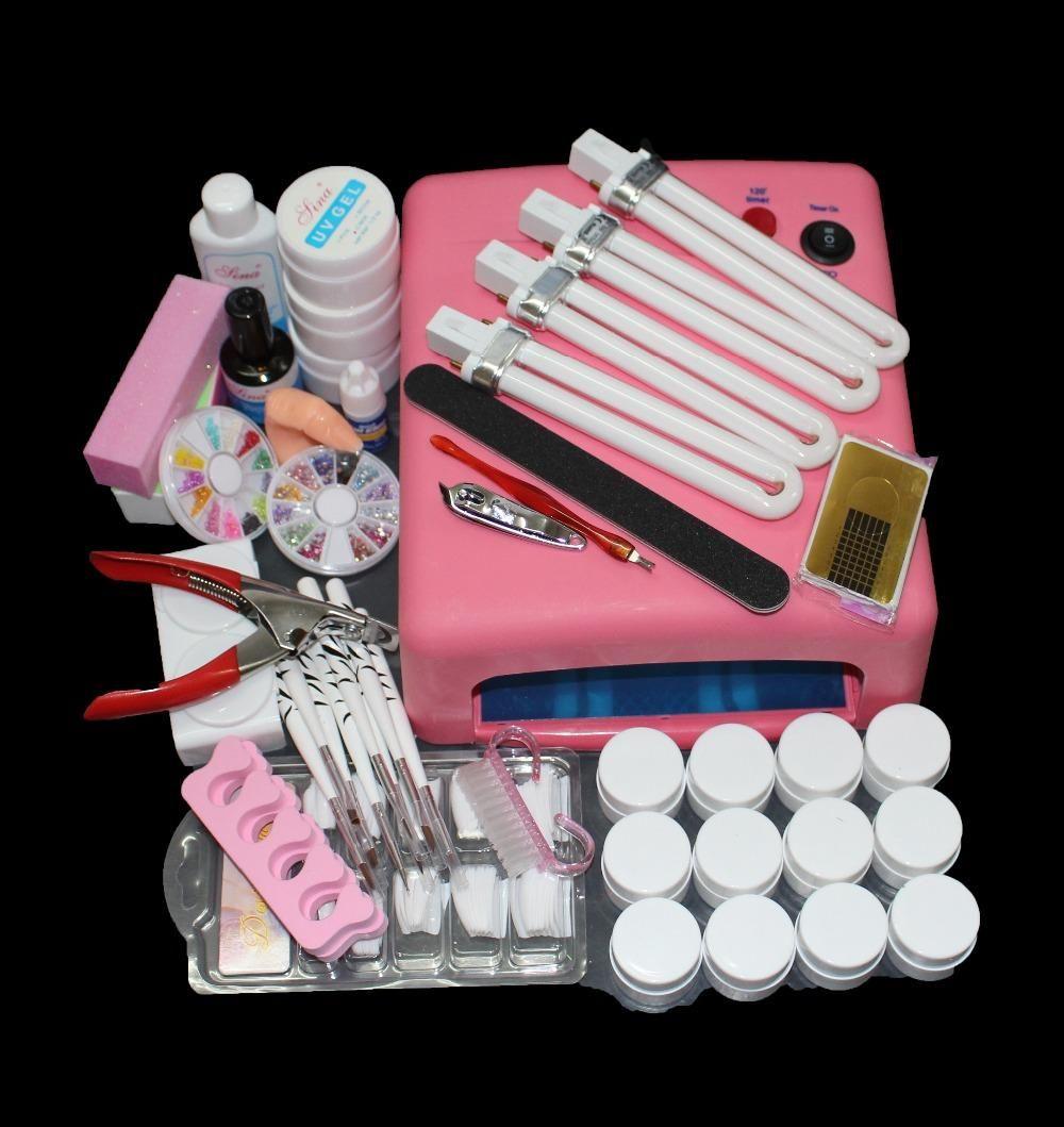 Visit To Buy Nail Art Tool Full 12 Color Uv Gel Kit Brush Nail