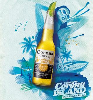 Event Corona Island Graphic Design Logo Advertising Design Print Advertising